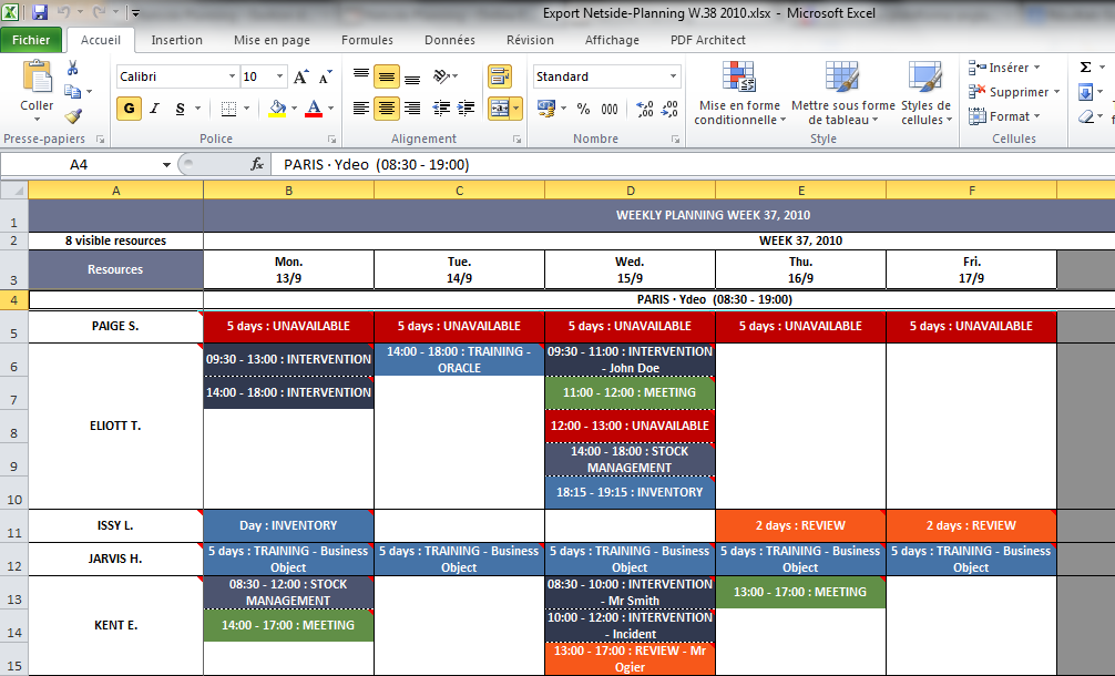 Netside planning online employee scheduling software for Planning on line